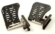 Kayak hinged foot pedals - large with slide