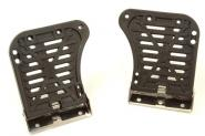 Kayak hinged foot pedals - large